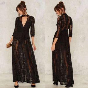 Nasty Gal Perminova Maxi Dress - Black